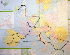 The Actual Route I took backpacking through Europe.  It changed my life.