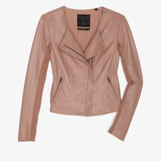 Image result for mauve leather jacket