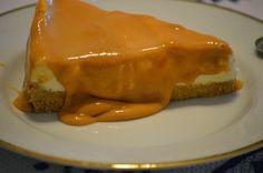 Cheese cake com molho de manga
