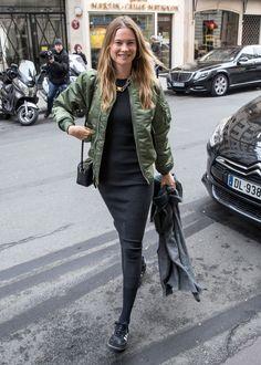 Behati Prinsloo at Paris Fashion Week