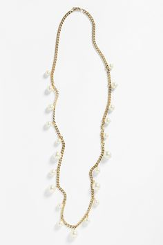 Givenchy Long Faux Pearl Necklace