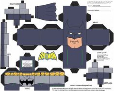 Image detail for -... TOYS and COLLECTIBLES: New BATMAN TOYS - DC Comics Cubees Paper Craft