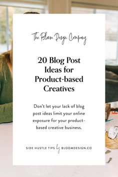 20 Blog Post Ideas for Product-based Creatives | The Bloom Design Company Instagram Marketing Tips, Image Caption, Business Fashion, Creative Business, Search Engine, Prompts, Base, Let It Be, Bloom