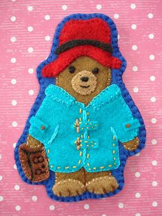 Paddington Bear felt