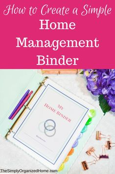 home management binder | home binder | homemaking | home organization | paper clutter