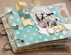 pretty canvas album with crochet trims