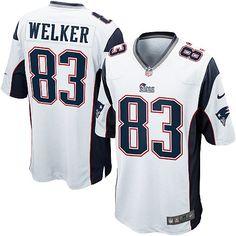 939dcd7ed Men s Nike New England  Patriots Wes Welker Game White Jersey Nike Nfl