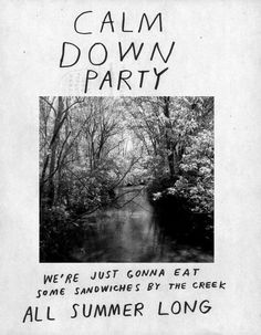 HEALTH COACH: Sandwiches (Calm Down Party Flyer by Nathaniel Russell)