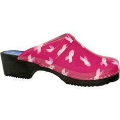 @Overstock.com - Cape Clogs Pink Ribbon Pink - Cape Clogs is proud to announce a partnership with The National Breast Cancer Foundation. These clogs with genuine leather uppers and alder soles are comfy and creating awareness. If you have never worn a comfort-formed alder sole  http://www.overstock.com/Clothing-Shoes/Cape-Clogs-Pink-Ribbon-Pink/7487182/product.html?CID=214117 $84.95