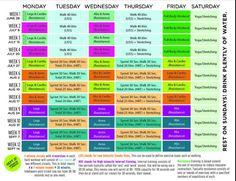 BBG Weekly Calendar - Kayla Itsines