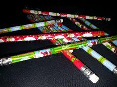 2 Christmas Pencils, Free Shipping  You Choose, Snowman, Snowflake/Reindeer or Merry Christmas #2