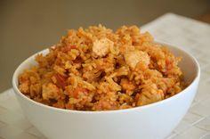 אורז אדום עם חזה עוף ( צילום: אפרת סיאצ'י )