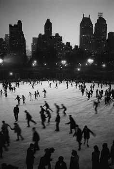 Central Park rink by Bruno Barbey, 1967