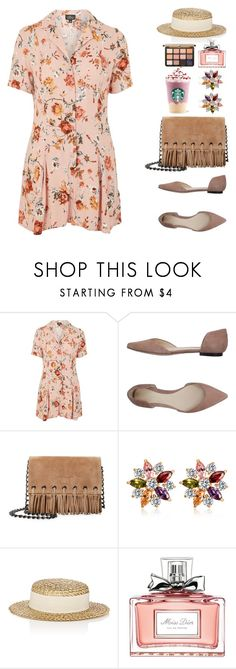 """""""Untitled #671"""" by froyalbiatsii ❤ liked on Polyvore featuring Topshop, 3.1 Phillip Lim, Longchamp, Eugenia Kim, Christian Dior, Spring and springdresses"""