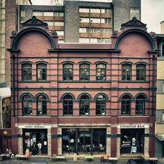 Truth Espresso bar, Cape Town. Steam punk interiors.