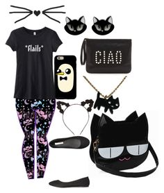 """Black tag!"" by therealderpy ❤ liked on Polyvore featuring Charlotte Russe, Billini, Erstwilder, Rebecca Minkoff and ToLazyToTag"
