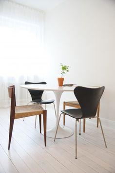 Via Hannas Room | Saarinen Dinnertable | Arne Jacobsen