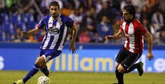 Cani se lleva la pelota ante Beñat en el encuentro del pasado domingo ante el Athletic de Bilbao quintana