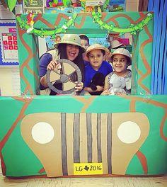 safari jeep for dramatic play safari theme or jungle theme for preschool Safari Party, Jungle Theme Parties, Jungle Party, Party Themes, Jungle Theme Decorations, Ideas Party, Jungle Activities, Preschool Jungle, Jungle Crafts