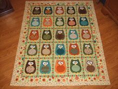 Owl quilt for my daughter...  very cute quilt