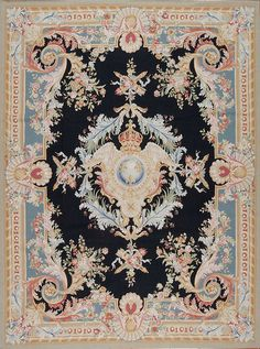 This One-of-a-Kind collection comprises ornamental flatweaves inspired by French Aubusson carpets and tapestries. Handcrafted in China, these designs play with decorative floral elements, wreaths and medallions in a traditional antique style.