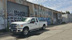 Super duty truck urban art