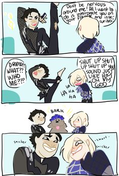 If season two comes to grant our wishes, I really hope these two become friends instead of rivals Yuri! On Ice Yuri, Yurio Mega Anime, Anime In, Anime Stuff, Yuri Plisetsky, Yuri On Ice Comic, Yuri!!! On Ice, Ice Photo, Fandoms, Cute Comics