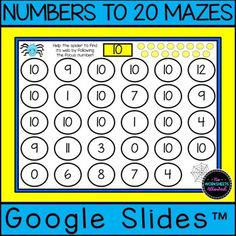 Teach your students to recognize numbers to 20 with this FREE fun math activity! There are 21 individual number mazes to complete! HANDS ON LEARNING for your math centers or distance learning. Creative Teaching, Teaching Ideas, Shape Games, Fun Math Activities, Number Recognition, Learning Numbers, Hands On Learning, 2nd Grade Math, Free Fun