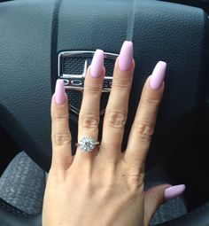 Loving my long square light purple nails beauty pinterest coffin nails solutioingenieria Image collections