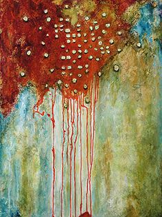 Invisible Matter by Sandra Duran Wilson Acrylic and Venetian plaster ~ 40 x 30