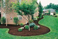 New Backyard Patio Steps Shape Ideas Landscaping Trees, Modern Landscaping, Outdoor Landscaping, Front Yard Landscaping, Landscaping Edging, Patio Steps, Backyard Plan, Backyard Patio, Backyard Ideas