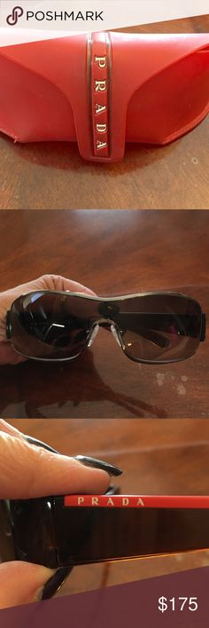 Prada Sunglasses Very beautiful and nice sunglasses. No scratches. Ready to wear! Prada Accessories Sunglasses
