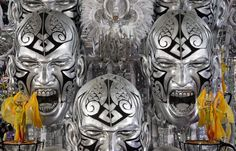This is one HUGE freaky float! Dancers of Uniao da Ilha samba school parade on a huge float during carnival celebrations at the Sambadrome in Rio de Janeiro, Brazil, on February (AP Photo/Felipe Dana) Carnival Floats, Rio Carnival, Carnival Masks, National Geographic Photo Contest, Mardi Gras, Cool Art, Lion Sculpture, Photoshop, Image