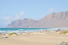 Lanzarote, ocean, beach, Hiszpania, Wyspy Kanaryjskie, blue