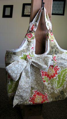 Large Diaper Bag - Micheal Miller Secret Garden. $79.00, via Etsy.
