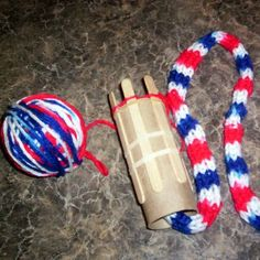 Toilet Paper Tube Spool Knitter