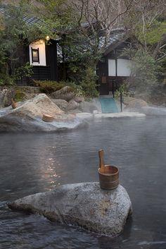 Rotemburo in Kurakawa onsen, Kyushu, Japan