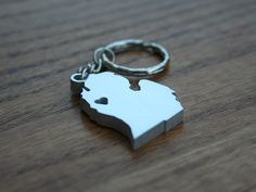 Michigan Lovin' Metal Keychain by theDuoStudio on Etsy, $13.00 - custome made so you can have your heart anywhere on the mitten :)