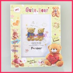Cutie Love Bear Plastic Photo Frame for LOVE with at 3D picture frame PF07  ... ♡❤♡❤♡ USE PHOTO FRAMES not only to KEEP the PHOTOs but also the MEMORABLE MOMENTs & LOVERS --- #love #photo #Photoframes #Children #Kids #cat #dog #memorable #family ♡❤♡❤♡