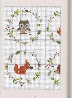 Wild animals stitch pattern free