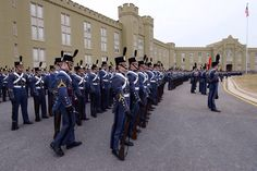 Virginia Military Institute - Lexington, VA  --AT VMI it's called the parade deck. At the Citadel in Charleston, SC (S. C. Military College), it's called the parade yard.