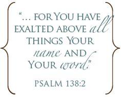 Psalm 138:2