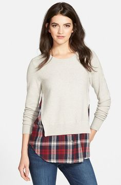 Treasure&Bond Layered Shirttail Sweater available at #Nordstrom
