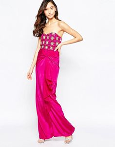 Virgos Lounge | Virgo's Lounge Yoanna Badeau Maxi Dress with Embellished Bust at ASOS