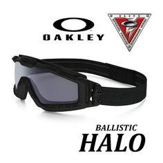 Oakley SI BALLISTIC HALO GOGGLE -Black con lente grey
