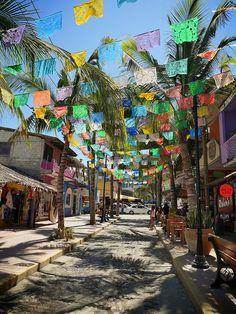 Colorful Sayulita, Mexico.  Jungle Spirit Yoga Retreat Feb. 7-14, 2015 #yogaretreat #sayulitayogaretreat