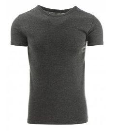 Antracitové pánske tričko