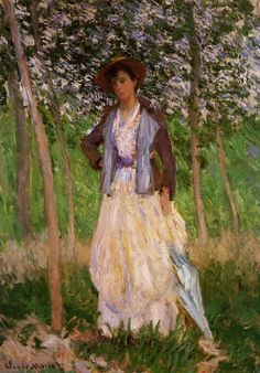 The Stroller (Suzanne Hoschede) by @claude_monet #impressionism