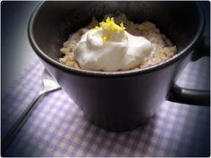 Lemon Mug Cake, hurtig, mikroovns kage