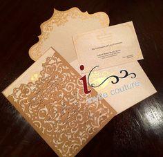 Ready to Order Luxury Laser Cut Wedding Invitation Pocket